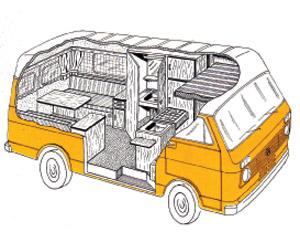 1976 VW Westfalia LT Salzburg Camper